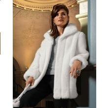 White Mink 31″ Faux Fur Jacket